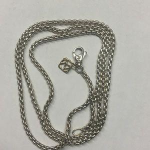 """David yurman 2.7mm sterling & 14k tag chain 24"""""""